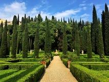 Giusti宫殿和庭院,维罗纳,意大利 库存图片