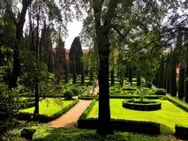 Giusti宫殿和庭院,维罗纳,意大利 免版税库存图片