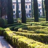 Giusti Garden in Verona city in spring Royalty Free Stock Photography