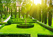 Giusti Garden in Verona Stock Photo