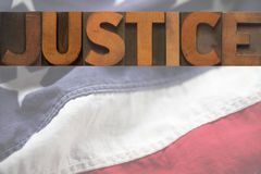 Giustizia americana Immagine Stock