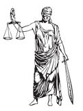 Giustizia cieca Fotografia Stock
