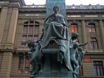 Giustizia cilena Building fotografia stock libera da diritti