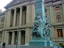 Giustizia cilena Building immagine stock