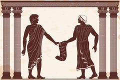 Giustizia del greco antico illustrazione vettoriale