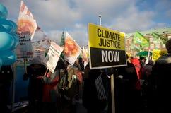 Giustizia di clima ora! Fotografie Stock Libere da Diritti