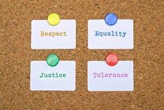 Giustizia ed uguaglianza fotografia stock libera da diritti