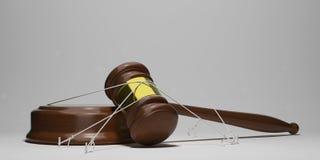 Giustizia legata Immagine Stock