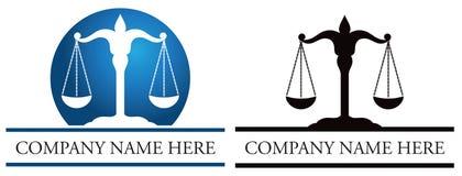 Giustizia Scales Logo royalty illustrazione gratis