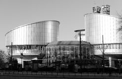 Giustizia Strasbourg del Corte europea dei diritti dell'uomo Fotografie Stock Libere da Diritti