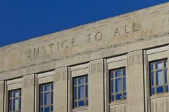 Giustizia To All immagine stock