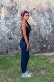 Giusto profilo del punto di riferimento d'esplorazione della ragazza Fotografia Stock Libera da Diritti
