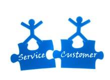 Giusto servizio al cliente. Fotografie Stock Libere da Diritti