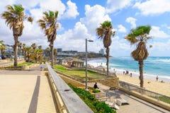 Givat Aliyah-Strand, Jaffa Lizenzfreies Stockbild
