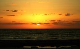 Givat Olga del sole del tramonto fotografia stock libera da diritti