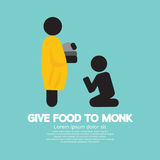 Give Alms To Monk Symbol. Stock Photo