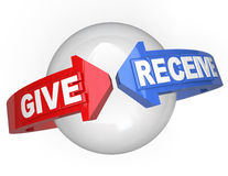 Give And Receive Sharing Support Helping Others Stock Image