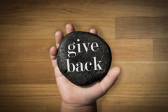 Give Back royalty free stock photography