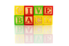 Give back Royalty Free Stock Photo