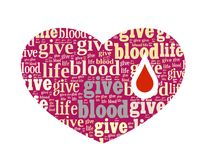 Give Blood. Give Life in Word Collage Stock Photography