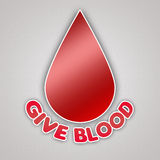 Give Blood Emblem Campaign Royalty Free Stock Photography