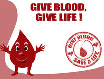 Give blood, give life Stock Photos