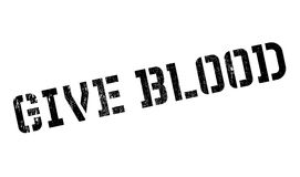 Give Blood rubber stamp Stock Images