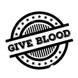 Give Blood rubber stamp Royalty Free Stock Images