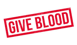 Give Blood rubber stamp Stock Image