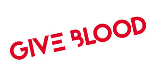 Give Blood rubber stamp Royalty Free Stock Image