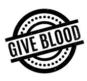 Give Blood rubber stamp Royalty Free Stock Photo