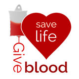 Give blood, save life Stock Images