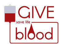 Give blood - Save life vector medical concept. Give blood - Save life Vector medical flat concept Stock Photography