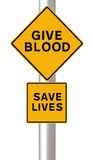 Give Blood – Save Lives Royalty Free Stock Images