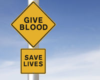 Give Blood – Save Lives Stock Images