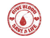 Give blood stamp Stock Images