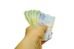 Give cash Royalty Free Stock Photography