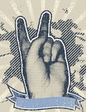 Give It A Chance. Vector illustration of human hand raise high above symbolizing world peace Royalty Free Stock Images