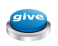 Give - Charity button Stock Image