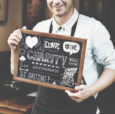 Give Charity Donation Graphic Concept Stock Photography