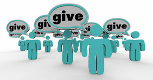 Give Donate Contribute Speech Bubbles Stock Image
