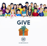 Give Donate Generosity Giving Support Help Concept Royalty Free Stock Photo