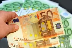 Give euros royalty free stock photo