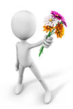 Give flowers Royalty Free Stock Images