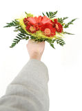 Give flowers Stock Photo