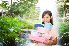 Give the gift box Royalty Free Stock Photo