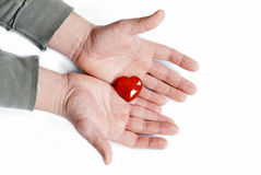 Give heart Royalty Free Stock Image
