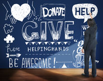 Give Help Donate Charity Aid Concept Royalty Free Stock Images