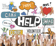 Give Help Donate Walfare Charity Donate Concept royalty free stock photo
