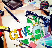 Give Help Donation Charity Volunteer Concept Royalty Free Stock Photography